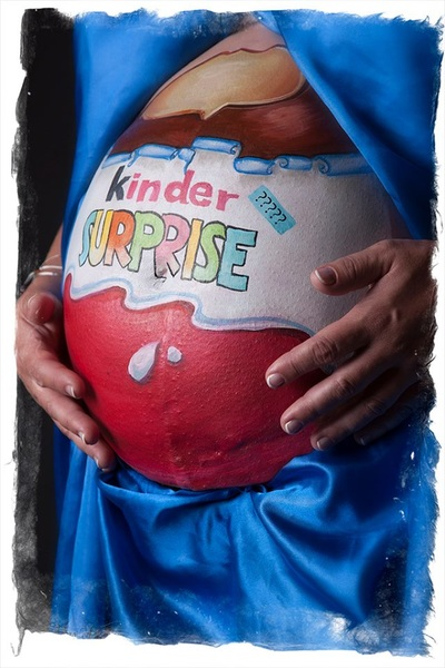 kinder surprise belly painting