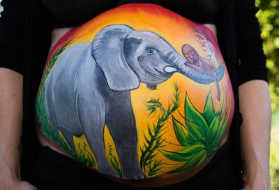 africa belly painting