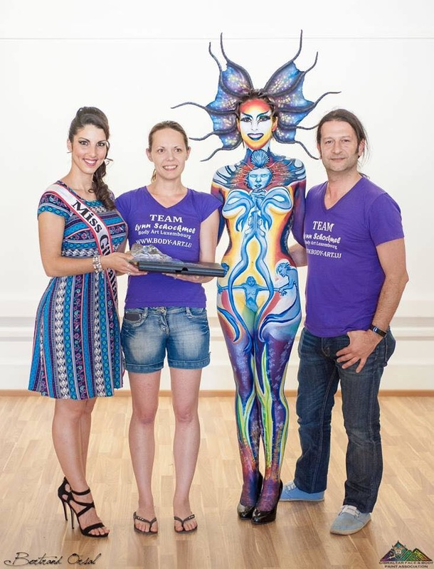 Bodypainting champion winner