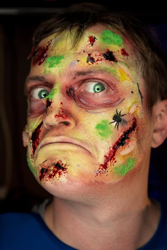 superman zombie makeup