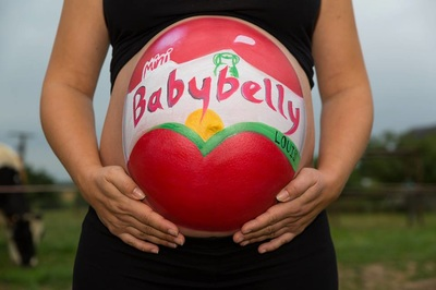 babibel babybelly belly painting