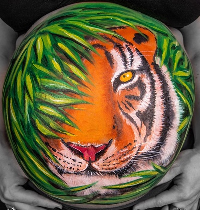 tiger belly painting